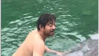Irrfan Khan's Son Babil Khan Shares Throwback Video of His Dad Taking Dip in Ice Cold Water- Watch
