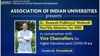 कोरोना युग के बाद की स्थिति को लेकर HRD मंत्री रमेश पोखरियाल आज वाइस चांसलरों से उच्चा शिक्षा पर करेंगे चर्चा