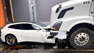 Revenge Served Cold: Employee Takes Sacking Frustation to Next Level, Rams Volvo Truck Into Boss's Ferrari When Fired From Job