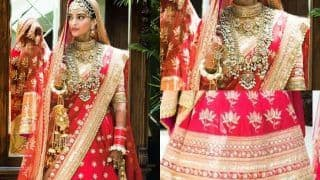 On Sonam Kapoor-Anand Ahuja's 2nd Wedding Anniversary, Here's Decoding Actor's Bridal Look