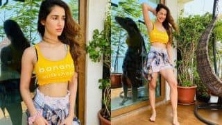 Disha Patani Flaunts Her Perfect Curves in Crop Top And Shorts, Drool-worthy Pictures go Viral