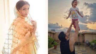 'Raise a Happy Child'! Soha Ali Khan Shares Adorable Picture of Kunal Kemmu Lifting Inaaya High up in The Air