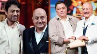 Anupam Kher Celebrates Lives of Two Remarkable Actors Irrfan Khan And Rishi Kapoor in This Video- Watch