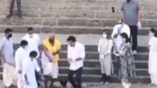 Rishi Kapoor Last Rites Videos: Actor Ashes Immersed in Banganga Tank With Ranbir, Neetu, Riddhima And Alia in Attendance