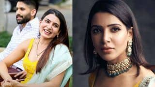 Samantha Akkineni Repeats Her Yellow Sabyasachi Suit to Attend Rana Daggubati-Miheeka Bajaj's Roka Ceremony - See Pics