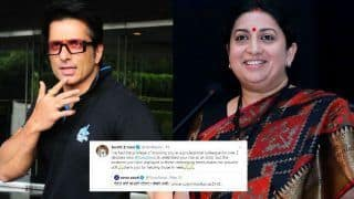 Smriti Irani Praises Sonu Sood For Helping Migrant Workers, Says 'Your Kindness Makes me Feel Proud'