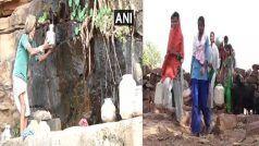 water crisis: छतरपुर के इस गांव में एक बाल्टी पानी लेने के लिए पहाड़ियो में मीलों दूरी तय कर रहे लोग