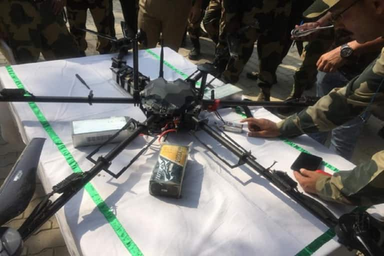 BSF Shoots Down Arms-Laden Pakistani Drone in J&K's Kathua, Weapons Recovered