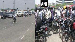 Gurugram-Delhi Border Updates: Unlock 1 के पहले दिन दिल्ली-गुरुग्राम बॉर्डर पर लगी वाहनों की लंबी कतार, निकलने से पहले जान लें नियम