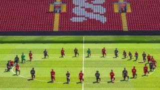 Liverpool FC Footballers Take a Knee at Anfield in Show of Solidarity For George Floyd