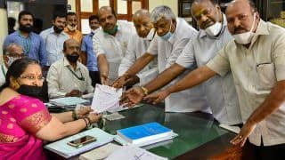 Rajya Sabha Elections 2020: BJP's Kadadi And Gasti, JDS Candidate Deve Gowda File Nomination From Karnataka
