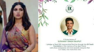 Sushant Singh Rajput's Death: Bhumi Pednekar Pledges to Feed 550 Impoverished Families in Loving Memory of Late Actor