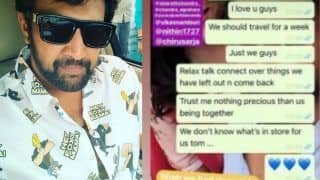 Chiranjeevi Sarja Writes 'Don't Know What's in Store For us Tomorrow' in His Last WhatsApp Chat With Friend Prajwal Devaraj
