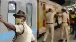 Watch | Mumbai Cops Run After Shramik Special Train to Help Get Migrants Workers On Board