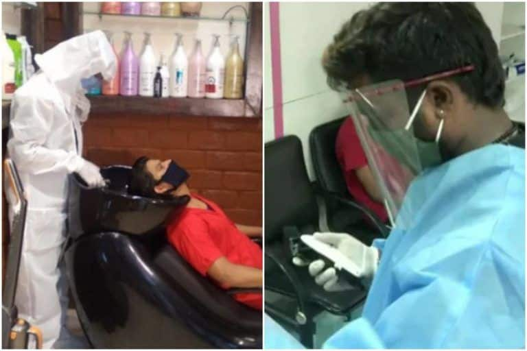 The New Normal? Salon Workers Covered In PPE Kits While Giving Haircuts, Images Go Viral
