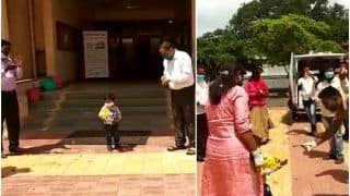 Awwdorable! 2-Year-Old Kid Beats Coronavirus, Hospital Bids Warm Farewell to the 'Little Warrior' By Showering Flowers   Watch