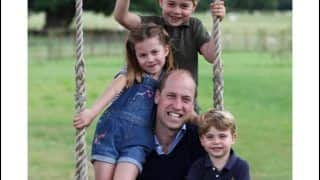 Ahead of Prince William's 38th Birthday, George-Charlotte-Louis Pile up on Dad to Wish Father's Day as Kate Middleton Captures Charming Moment