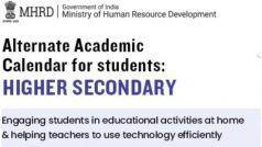 HRD मिनिस्ट्री ने जारी किया 11वीं, 12वीं छात्रों के लिए NCERT वैकल्पिक शैक्षणिक कैलेंडर, पढ़ाई में इससे मिलेगी मदद