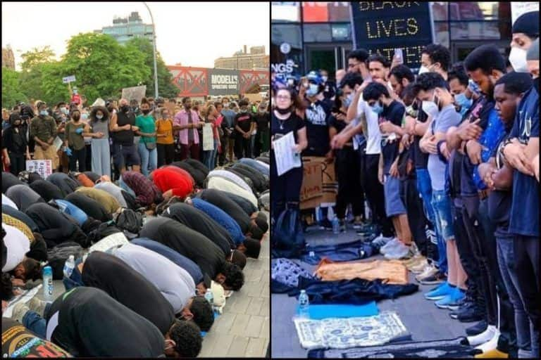 Protesters in New York City Guarding Muslims as They Prayed Amid #BlackLivesMatter Paints Beautiful Picture of Unity