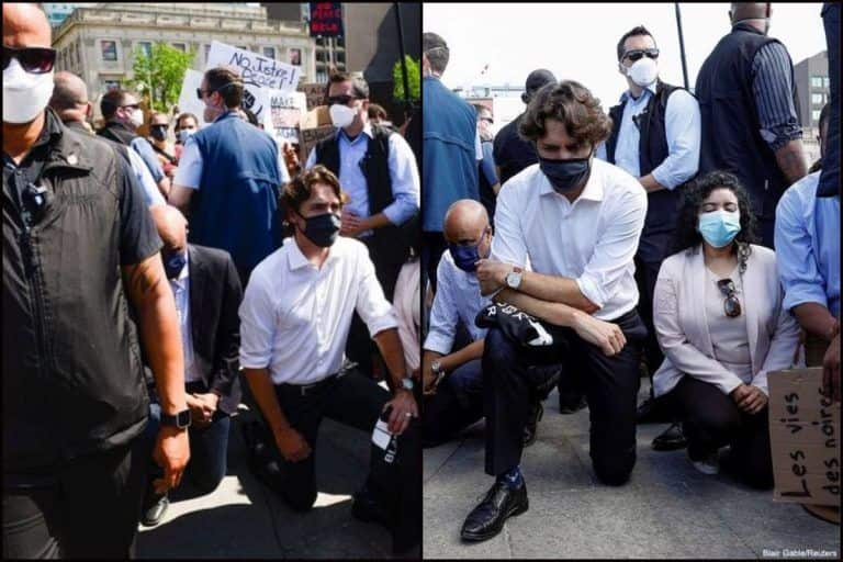 Canadian PM Trudeau Takes Knee in Anti-Racism Protest, Americans Tell Donald Trump 'This is What Real Leader Does'