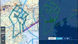 Pilot Draws Raised Fist on Map of Canada to Honour George Floyd And Show Support For #BlackLivesMatter, Completes Flight in 2.5 Hours