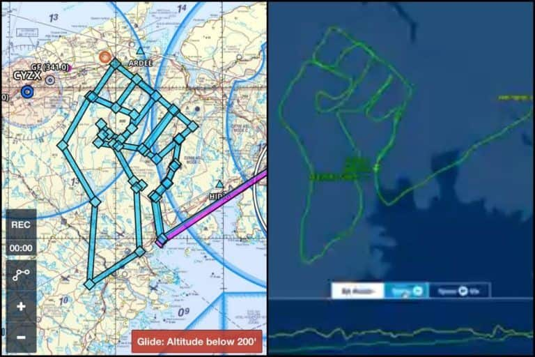 Pilot Draws Raised Fist on Map of Canada to Honour George Floyd-Support #BlackLivesMatter, Completes Flight in 2.5 Hours