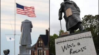 Christopher Columbus-Winston Churchill's Statues Beheaded And Set on Fire For Their Racists Past as Protest Against Systemic Racism Swells in USA-UK