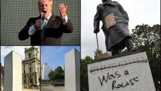 British PM Boris Johnson Defends Winston Churchill After His Defaced Statue Was Hidden in Box From #BlackLivesMatter Protesters in London