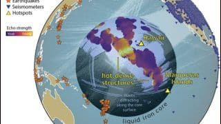 Scientists Detect Previously Unknown Structures Beneath Pacific Ocean Basin Near Earth's Core