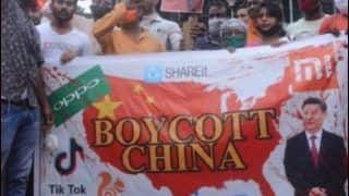 Boycott China Rally in Kolkata Brutally Trolled For Carrying US Map With President Xi Jinping's Image on Poster