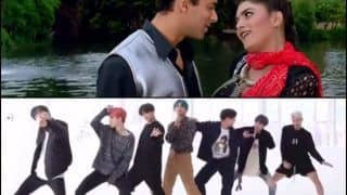 K-Pop Heartthrobs BTS Win Bollywood Buffs' Hearts, Groove to Sushmita Sen-Salman Khan's Song 'Chunari Chunari' And Fans Can't Stop Watching on Loop