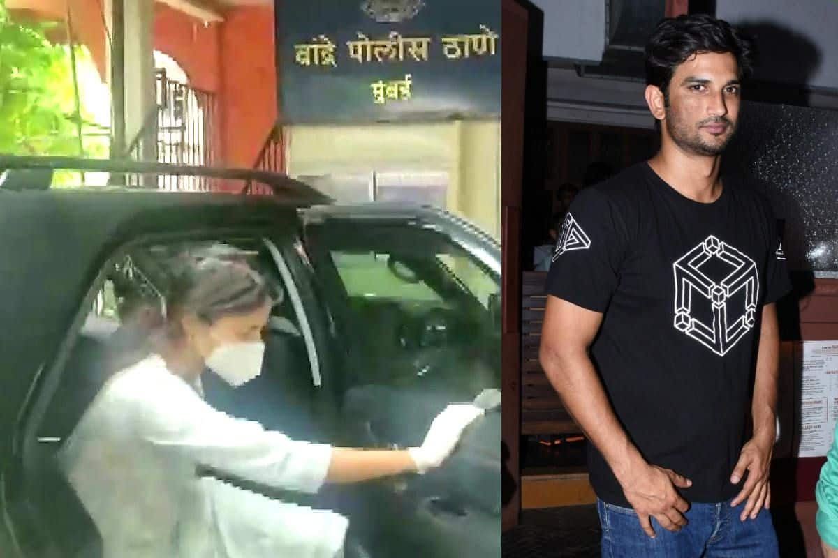 Sushant Singh Rajput Suicide Case Rhea Chakraborty Reaches Bandra