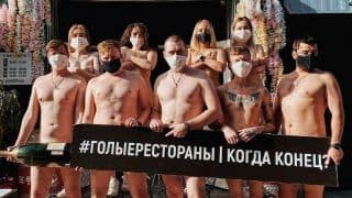 'We're Left with Nothing': Russian Chefs Stage Naked Protest After Lockdown Strips Them of Income