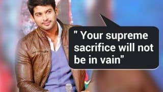 Bigg Boss 13 Winner Sidharth Shukla Expresses His Gratitude For Indian Army, Says 'Your Sacrifice Will Not go in Vain'