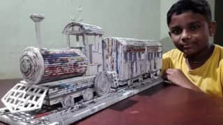 Kerala Boy Makes Stunning Train Model from Old Newspapers, Railway Ministry is Mighty Impressed | Watch