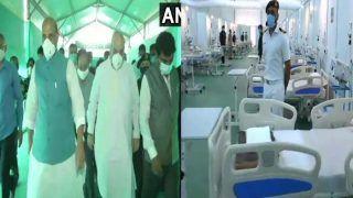 गृह मंत्री अमित शाह और रक्षा मंत्री राजनाथ सिंह ने DRDO के 1000 बेड्स वाले अस्पताल का किया दौरा