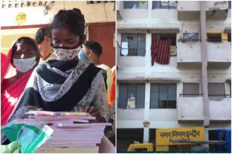 Indore Labourer   s Daughter Gets a Flat by MP Govt For Securing First Division In Class 10 Exams