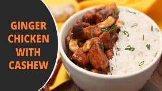 Ginger Chicken With Cashew Recipe: Check Out How You Can Make This Chinese Dish at Home