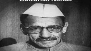 Remembering Former Prime Minister Gulzarilal Nanda on His Birth Anniversary