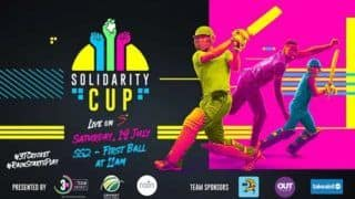 3TCricket Solidarity Cup 2020, Live Score And Updates