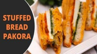 Stuffed Bread Pakora Recipe: Just Follow The Steps Given to Make The Snack at Home