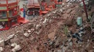Haridwar: Lightening Strikes Har Ki Pauri; Triggers Wall Collapse | See Pictures