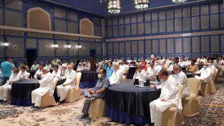 Rajasthan crisis: होटल में हुई कांग्रेस विधायक दल की मीटिंग, CM गहलोत 4 बजे गवर्नर से मिलेंगे