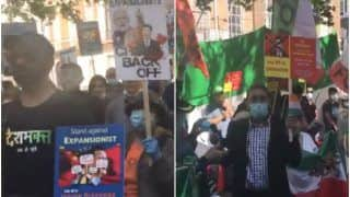 Watch: Pakistanis Sing 'Jana Gana Mana' & 'Vande Mataram' With Indians in London During Anti-China Protest