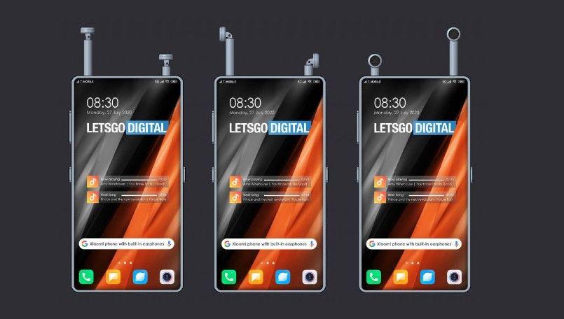 Xiaomi Patents A Smartphone Design With In Built Wireless Earphones