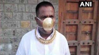 अनोखा शौक: कोरोना संकट में इस शख्स ने 3 लाख रुपए का सोने का मास्क बनवाया