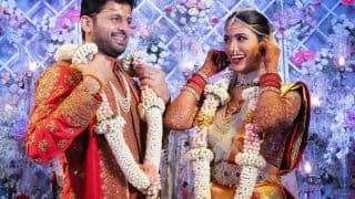 Telugu Actor Nithiin Gets Married to Shalini in Traditional South Indian Wedding Ceremony - See Photos