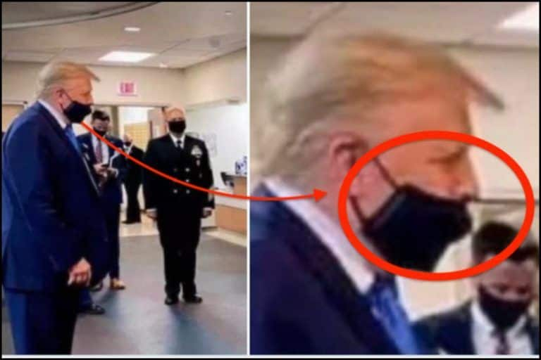 'You Had One Job Today': Twitter Points Out as US President Donald Trump FINALLY Wears Face Mask in Public But in  Wrong Way Ahead of Elections