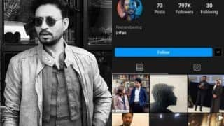 After Sushant Singh Rajput, Irrfan Khan's Instagram Account Gets Memoralised