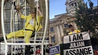 'Free Julian Assange': Fashion Designer-Activist Vivienne Westwood Protests Inside Bird Cage Against Extradition of WikiLeaks Founder to US